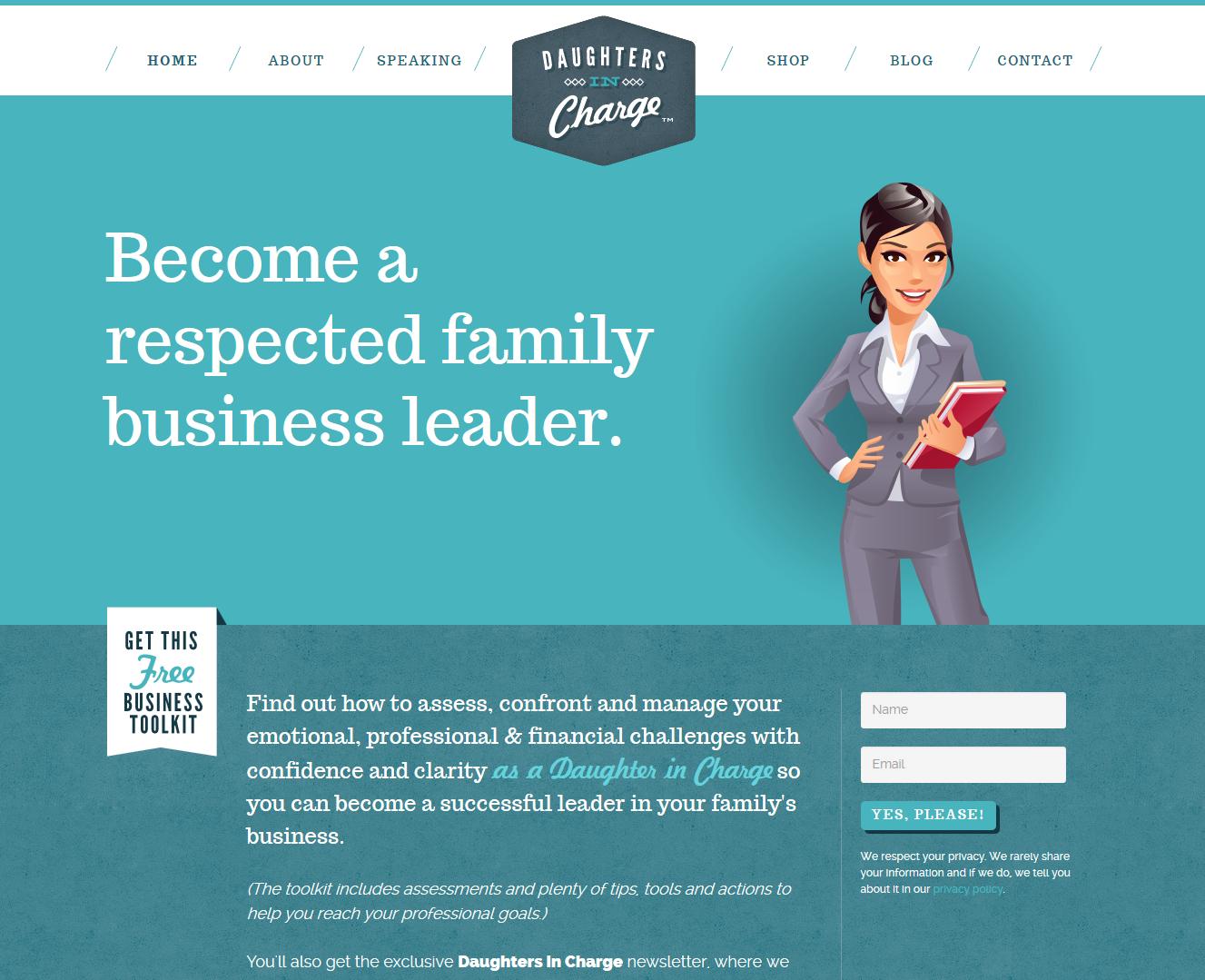 daughters-website