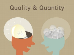 Compare between quality and quantity